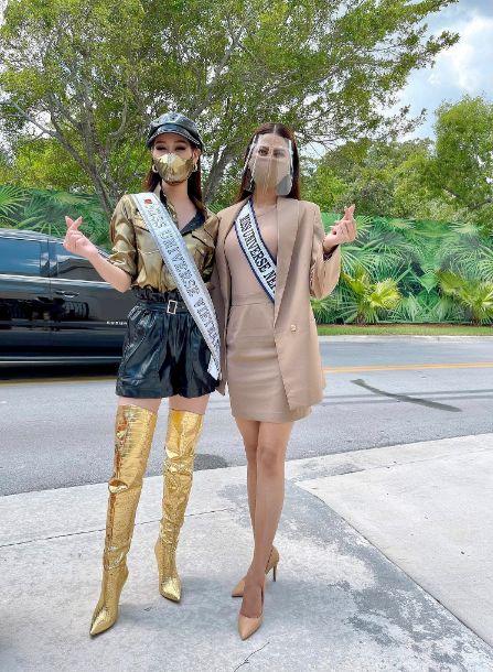 khanh van 3 2 Hoa hậu Khánh Vân diện pijama đặc biệt có in hình các đại diện Việt Nam tại Miss Universe