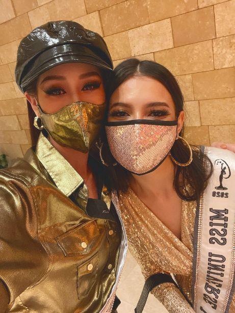 khanh van 4 2 Hoa hậu Khánh Vân diện pijama đặc biệt có in hình các đại diện Việt Nam tại Miss Universe