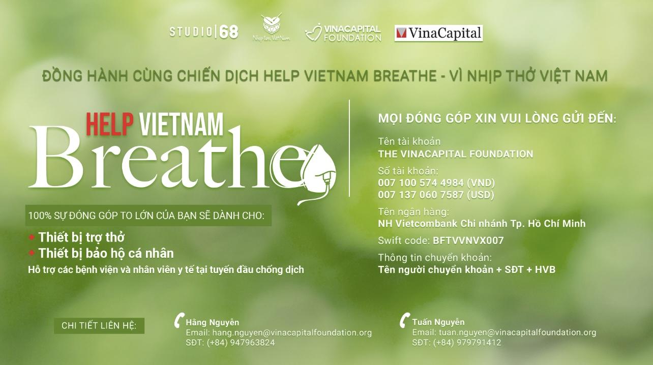 VinaCapital Foundation triển khai gây quỹ chương trình 'Help Vietnam Breathe   Vì Nhịp thở Việt Nam'