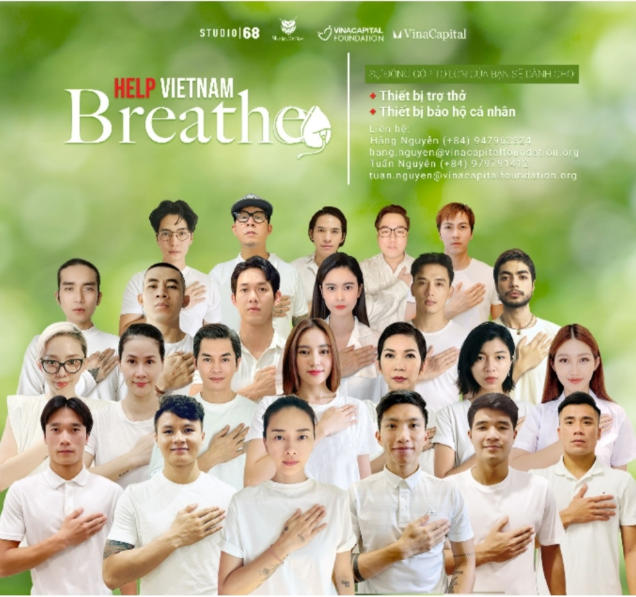 Screenshot 20210717 210223 Đông đảo nghệ sĩ và cầu thủ đội tuyển Việt Nam kêu gọi ủng hộ quỹ Help Vietnam Breathe – Vì Nhịp Thở Việt Nam